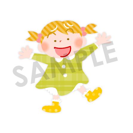 全身で喜びを表現する女の子のイラスト 保育園 幼稚園に使える無料イラスト素材ダウンロード