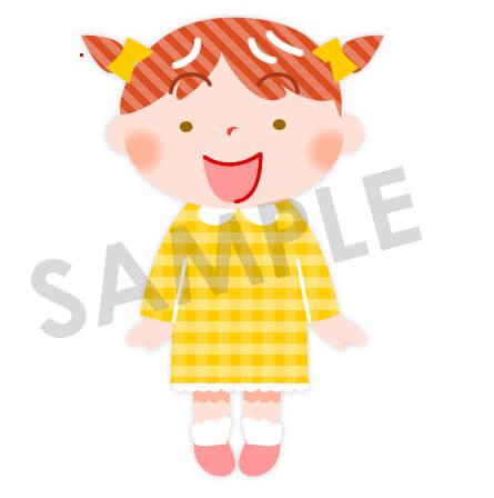 女の子のイラスト 黄色い服 保育園 幼稚園に使える無料イラスト素材ダウンロード